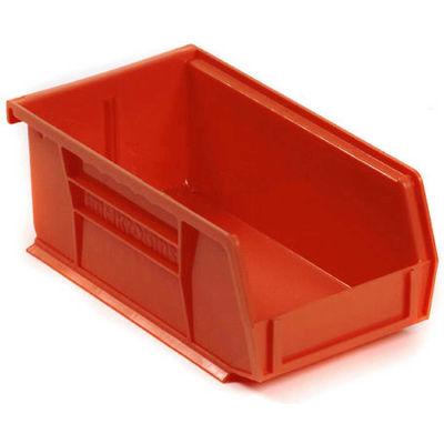 "Akro-Mils® AkroBin® Plastic Stack & Hang Bin, 4-1/8""W x 7-3/8""D x 3""H, Red - Pkg Qty 24"