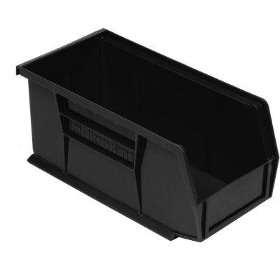 "Akro-Mils® AkroBin® Plastic Stack & Hang Bin, 5-1/2""W x 10-7/8""D x 5""H, Black - Pkg Qty 12"
