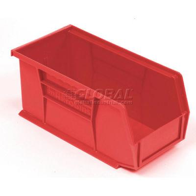 "Akro-Mils® AkroBin® Plastic Stack & Hang Bin, 5-1/2""W x 10-7/8""D x 5""H, Red - Pkg Qty 12"