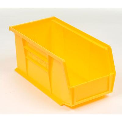 "Akro-Mils® AkroBin® Plastic Stack & Hang Bin, 5-1/2""W x 10-7/8""D x 5""H, Yellow - Pkg Qty 12"