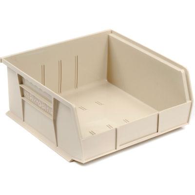 "Akro-Mils® AkroBin® Plastic Stack & Hang Bin, 11""W x 10-7/8""D x 5""H, Stone - Pkg Qty 6"
