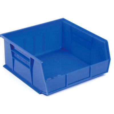 "Akro-Mils® AkroBin® Plastic Stack & Hang Bin, 11""W x 10-7/8""D x 5""H, Blue - Pkg Qty 6"