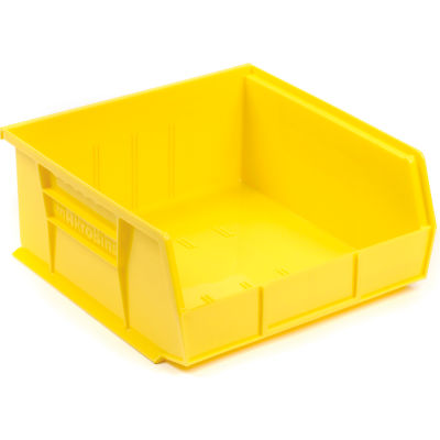 "Akro-Mils AkroBin® Plastic Stacking Bin 30235 - 11""W x 10-7/8""D x 5""H, Yellow - Pkg Qty 6"