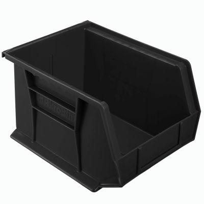 "Akro-Mils® AkroBin® Plastic Stack & Hang Bin, 8-1/4""W x 10-3/4""D x 7""H, Black - Pkg Qty 6"