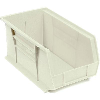"Akro-Mils AkroBin® Plastic Stacking Bin 30240 - 8-1/4""W x 14-3/4""D x 7""H, Stone - Pkg Qty 12"