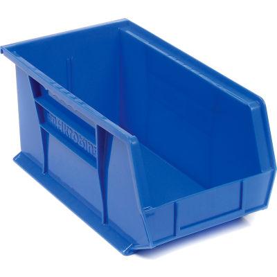 "Akro-Mils® AkroBin® Plastic Stack & Hang Bin, 8-1/4""W x 14-3/4""D x 7""H, Blue - Pkg Qty 12"