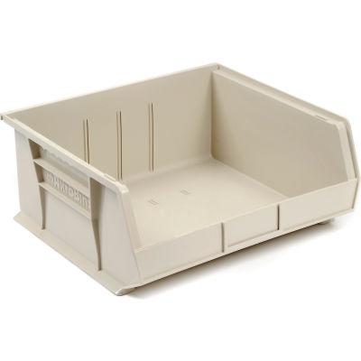 "Akro-Mils AkroBin® Plastic Stacking Bin 30250 - 16-1/2""W x 14-3/4""D x 7""H, Stone - Pkg Qty 6"