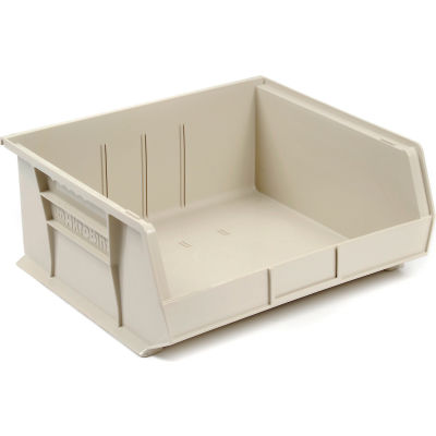 "Akro-Mils® AkroBin® Plastic Stack & Hang Bin, 16-1/2""W x 14-3/4""D x 7""H, Stone - Pkg Qty 6"