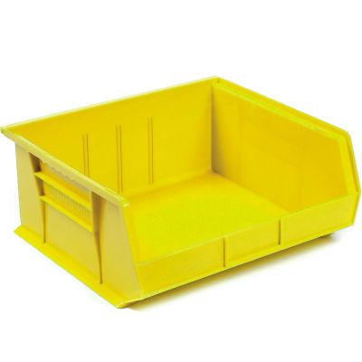 "Akro-Mils® AkroBin® Plastic Stack & Hang Bin, 16-1/2""W x 14-3/4""D x 7""H, Yellow - Pkg Qty 6"