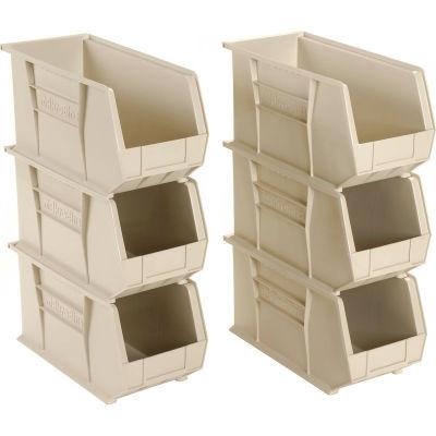 "Akro-Mils AkroBin® Plastic Stacking Bin 30265 - 8-1/4""W x 18""D x 9""H, Stone - Pkg Qty 6"