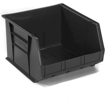 "Akro-Mils® AkroBin® Plastic Stack & Hang Bin, 16-1/2""W x 18""D x 11""H, Black - Pkg Qty 3"