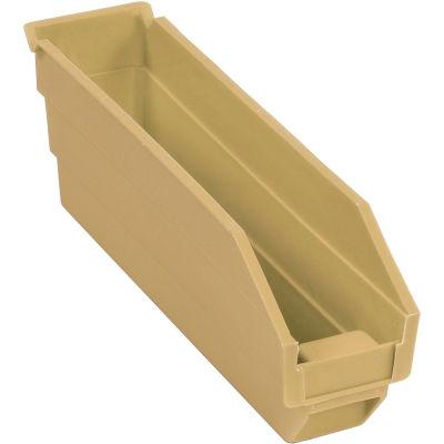 "Global Industrial™ Plastic Nesting Storage Shelf Bin 2-3/4""W x 11-5/8""D x 4""H Beige - Pkg Qty 24"