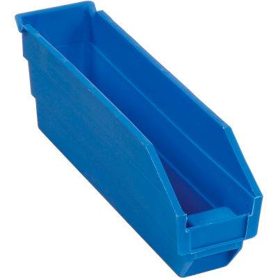 "Global Industrial™ Plastic Nesting Storage Shelf Bin 2-3/4""W x 11-5/8""D x 4""H Blue - Pkg Qty 24"