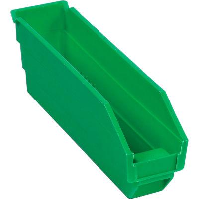 "Plastic Nesting Storage Shelf Bin 2-3/4""W x 11-5/8""D x 4""H Green - Pkg Qty 24"