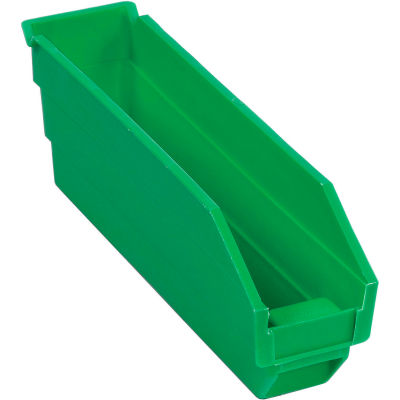 "Global Industrial™ Plastic Nesting Storage Shelf Bin 2-3/4""W x 11-5/8""D x 4""H Green - Pkg Qty 24"