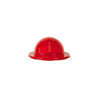Rubbermaid® FG1855RD Steel 55 Gallon Self-Closing Dome Drum Top - Red