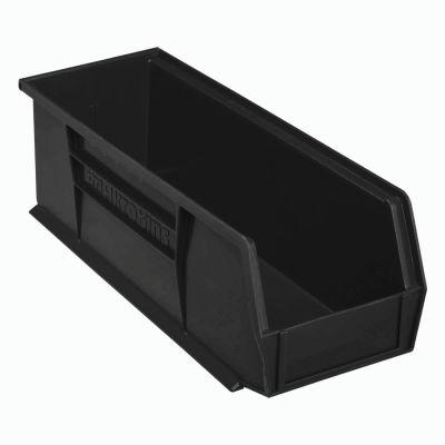 "Akro-Mils® AkroBin® Plastic Stack & Hang Bin, 5-1/2""W x 14-3/4""D x 5""H, Black - Pkg Qty 12"