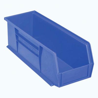 "Akro-Mils® AkroBin® Plastic Stack & Hang Bin, 5-1/2""W x 14-3/4""D x 5""H, Blue - Pkg Qty 12"