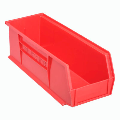 "Akro-Mils AkroBin® Plastic Stacking Bin 30234 - 5-1/2""W x 14-3/4""D x 5""H, Red - Pkg Qty 12"