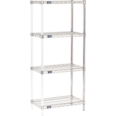 "Nexel® Chrome Wire Shelving Add-On - 24""W x 14""D x 54""H"