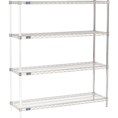 "Nexel® Chrome Wire Shelving Add-On - 48""W x 14""D x 63""H"