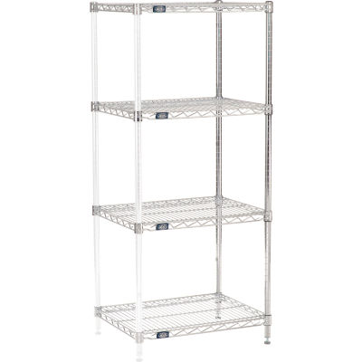 "Nexel® Chrome Wire Shelving Add-On - 24""W x 18""D x 54""H"