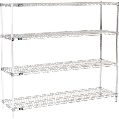 "Nexel® Chrome Wire Shelving Add-On - 60""W x 18""D x 63""H"