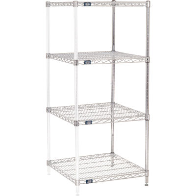 "Nexel® Chrome Wire Shelving Add-On - 24""W x 24""D x 63""H"