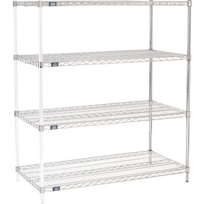 "Nexel® Chrome Wire Shelving Add-On - 48""W x 24""D x 54""H"