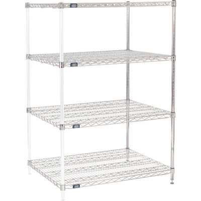 "Nexel® Chrome Wire Shelving Add-On - 36""W x 30""D x 54""H"