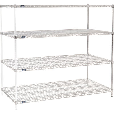 "Nexel® Chrome Wire Shelving Add-On - 60""W x 30""D x 63""H"