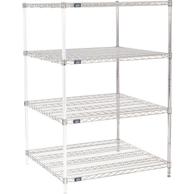 "Nexel® Chrome Wire Shelving Add-On - 36""W x 36""D x 54""H"