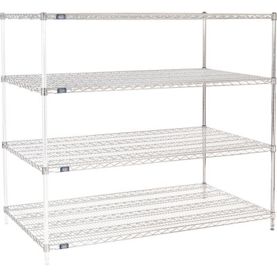 "Nexel® Chrome Wire Shelving Add-On - 60""W x 36""D x 63""H"