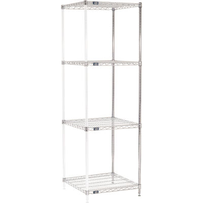 "Nexel® Chrome Wire Shelving Add-On - 24""W x 24""D x 74""H"