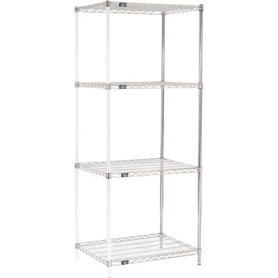 "Nexel® Chrome Wire Shelving Add-On - 30""W x 24""D x 74""H"