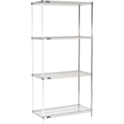 "Nexel® Chrome Wire Shelving Add-On - 42""W x 18""D x 86""H"