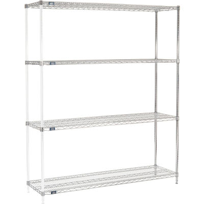"Nexel® Chrome Wire Shelving Add-On - 72""W x 18""D x 74""H"