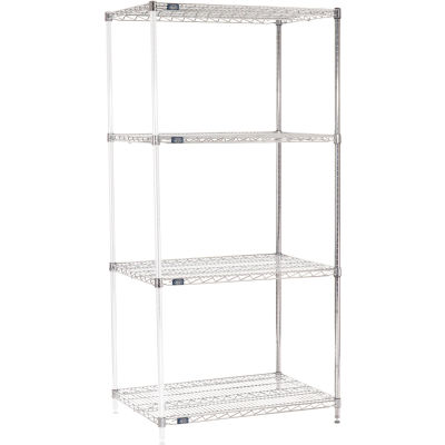 "Nexel® Chrome Wire Shelving Add-On - 42""W x 24""D x 86""H"