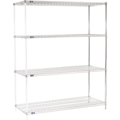 "Nexel® Chrome Wire Shelving Add-On - 72""W x 24""D x 86""H"