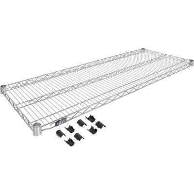 "Nexel® S1424EP Nexelate™ Wire Shelf 24""W x 14""D"