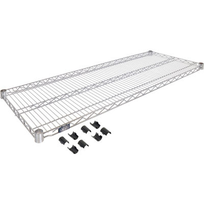 "Nexel® S1854Z Poly-Z-Brite® Wire Shelf 54""W x 18""D"