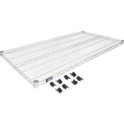 """Nexel® S2448C Chrome Wire Shelf 48""""W x 24""""D"""