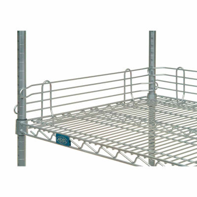 "Nexel® AL448C Chrome Ledge 48""L X 4""H for Wire Shelves"