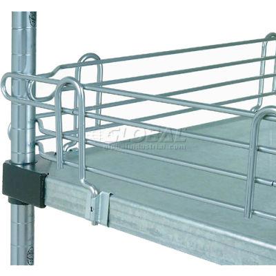 """Nexel® SL30C Chrome Ledge 30""""L X 4""""H for Solid Shelves"""