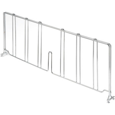 "Nexel® AD824C Chrome Divider 24""D x 8""H for Wire Shelves"