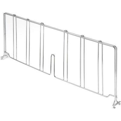 "Nexel® AD824C Chrome Divider 24""D x 8""H for Wire Shelves"