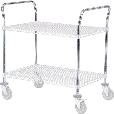 "Nexel® AH24C Chrome Utility Cart Handle 24"" (Priced Each, In A Package Of 2) - Pkg Qty 2"