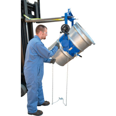 Adjustable Tilt Drum Dumper DCT-75 for 55 Gallon Steel Drum
