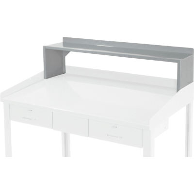 "Riser Shelf for Pucel 48""W Extra-Wide Shop Desk - Gray"