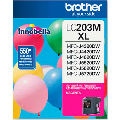 Brother® LC203M (LC-203M) High-Yield Ink, 550 Page-Yield, Magenta